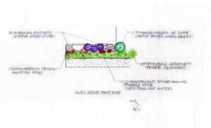 front right garden plan drawing